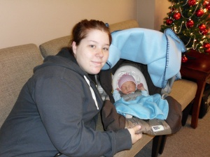 Sweet Tori brought her new baby boy Silas by to meet us.