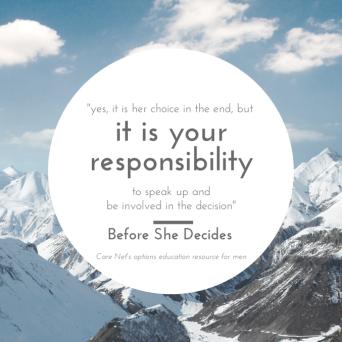 it is your responsibility.fatherhood