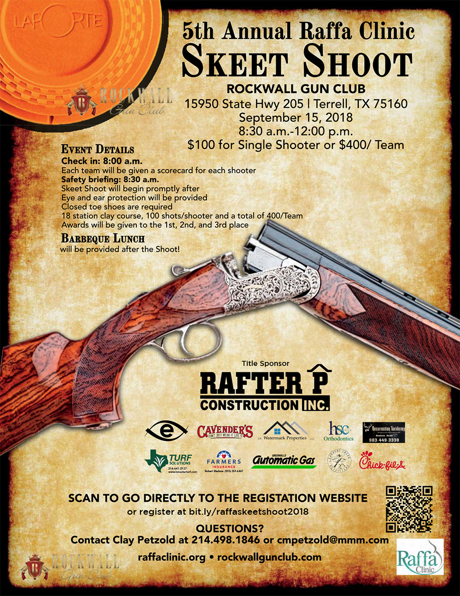 Skeet Shoot Flyer 2018